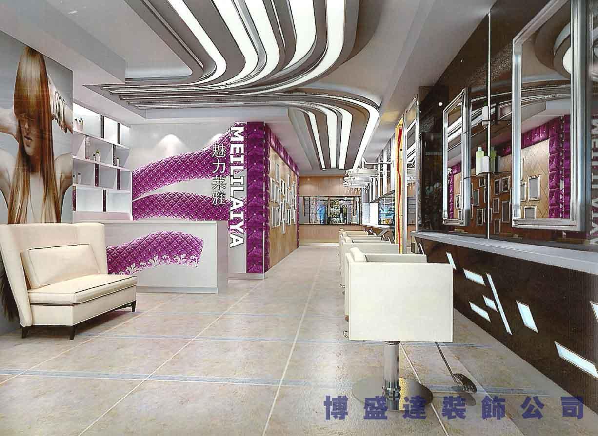 200平米发廊装修设计